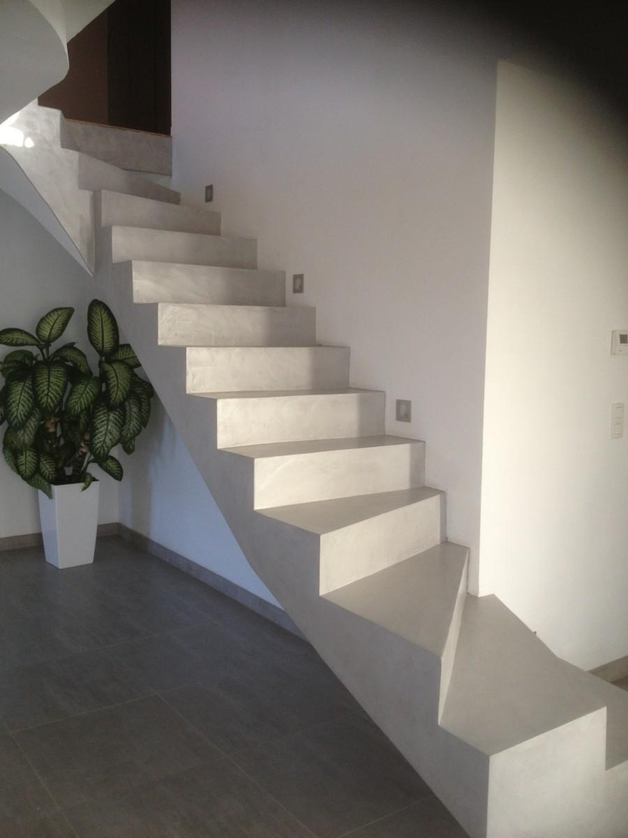 Recouvrir Un Escalier En Béton escalier béton ciré en bretagne | agencement intérieur